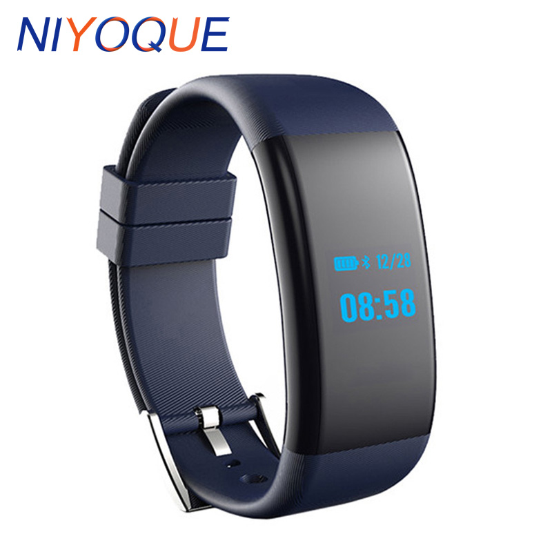 NIYOQUE DF30 Smartband Heart Rate Blood Pressure Oxygen Monitor Smart Bracelet Fitness Tracker Pedometer For IOS