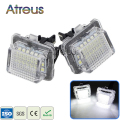2Pcs Car LED License Plate Lights 12V SMD3528 Number Plate Lamp Bulb Kit For Mercedes W204 W212 W216 W221 C207 Benz Accessories