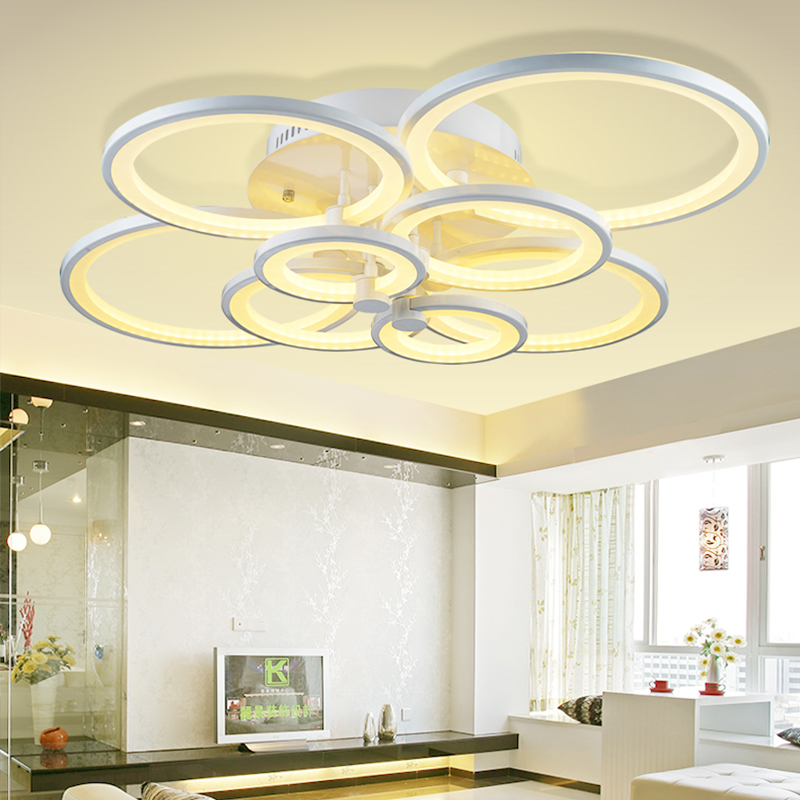 Remote Control LED Ceiling Light Round Acrylic Ceiling Lamp for Living Room Bed Room Flush Mount Light LED Lighting Fixtures black and white round lamp modern led light remote control dimmer ceiling lighting home fixtures