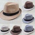 Hot Unisex Sombrero Mujeres Hombres Sombrero de Gángster Casquillo de la Playa Del Verano