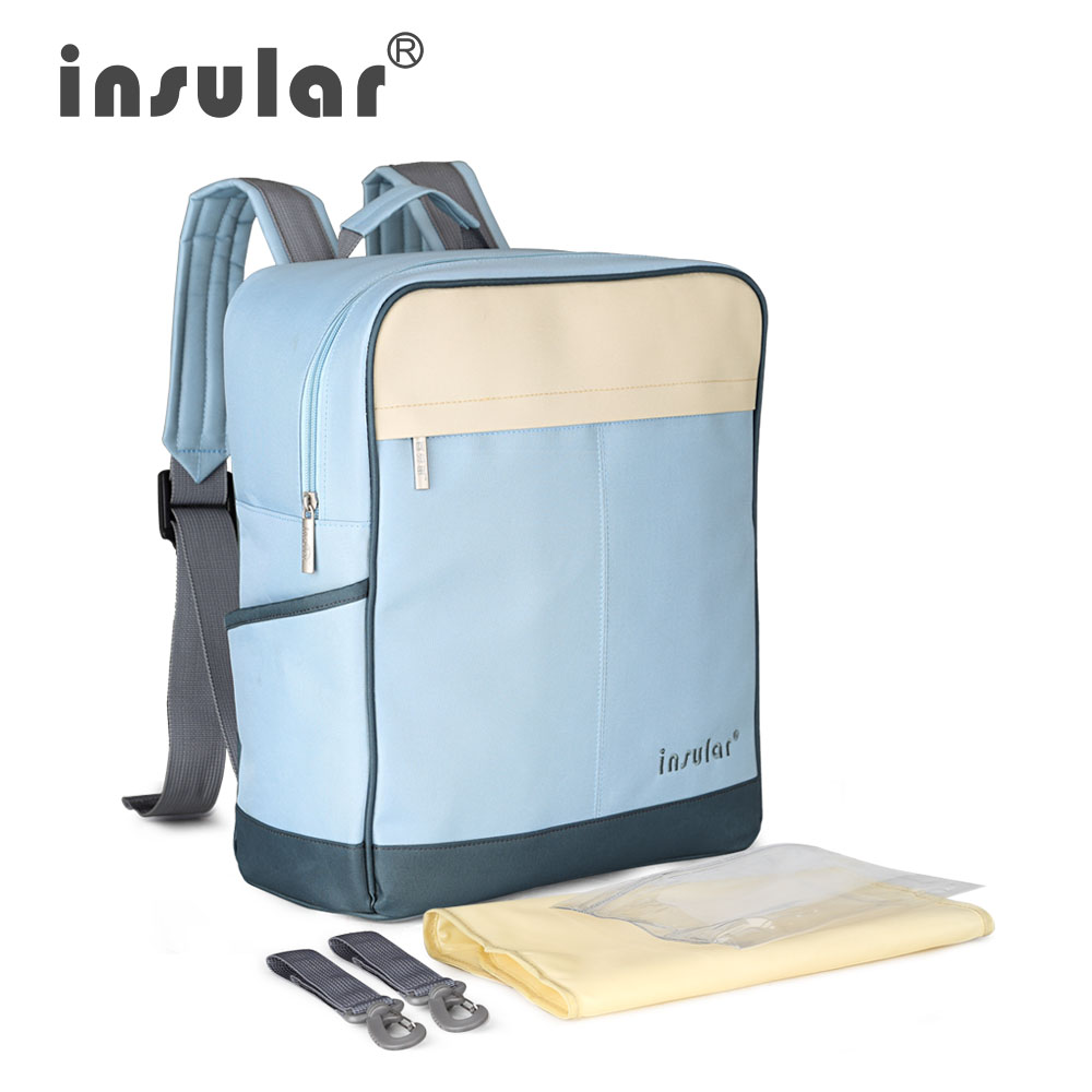 INSULAR Multifunctional Baby Diaper Backpack Waterproof Canvas Mommy Bag Backpack Nappy Bag
