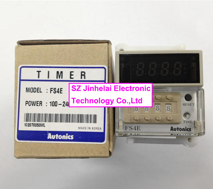 все цены на  100% New and original   FS4E   Autonics  TIMER  12-24VDC and 100-240VAC  онлайн
