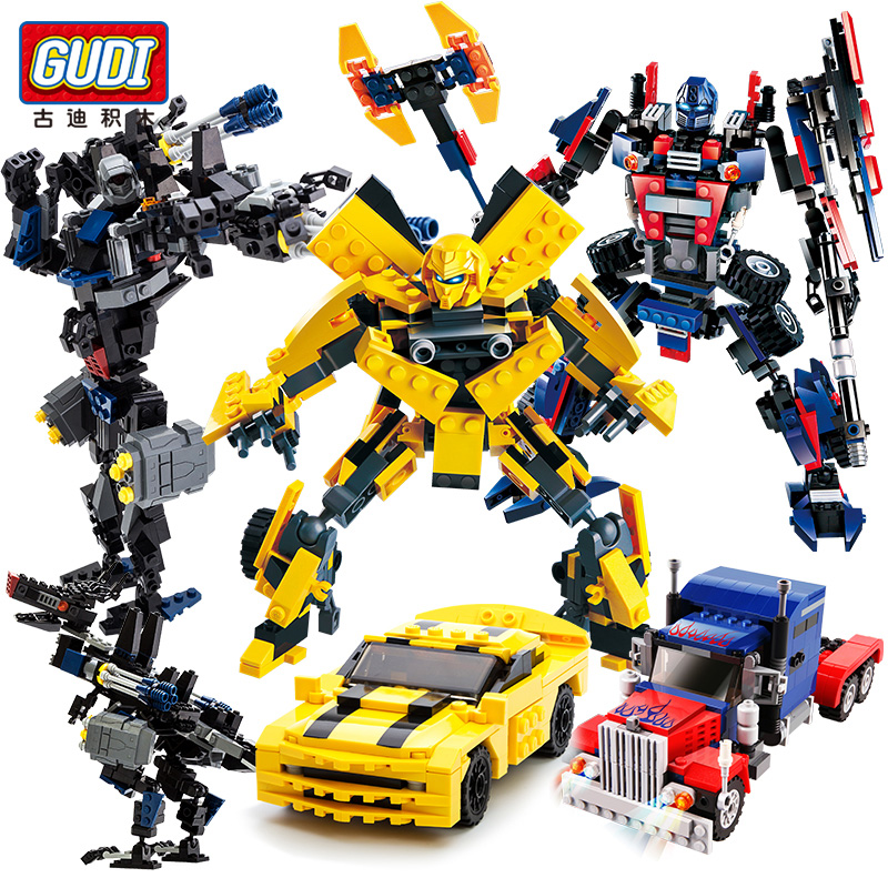 2 in 1 Transformation Starwars Robot Building Blocks Optimused Primed Mecha Truck Creator Gudi 8711 Compatible For Legoeing Toys(China)
