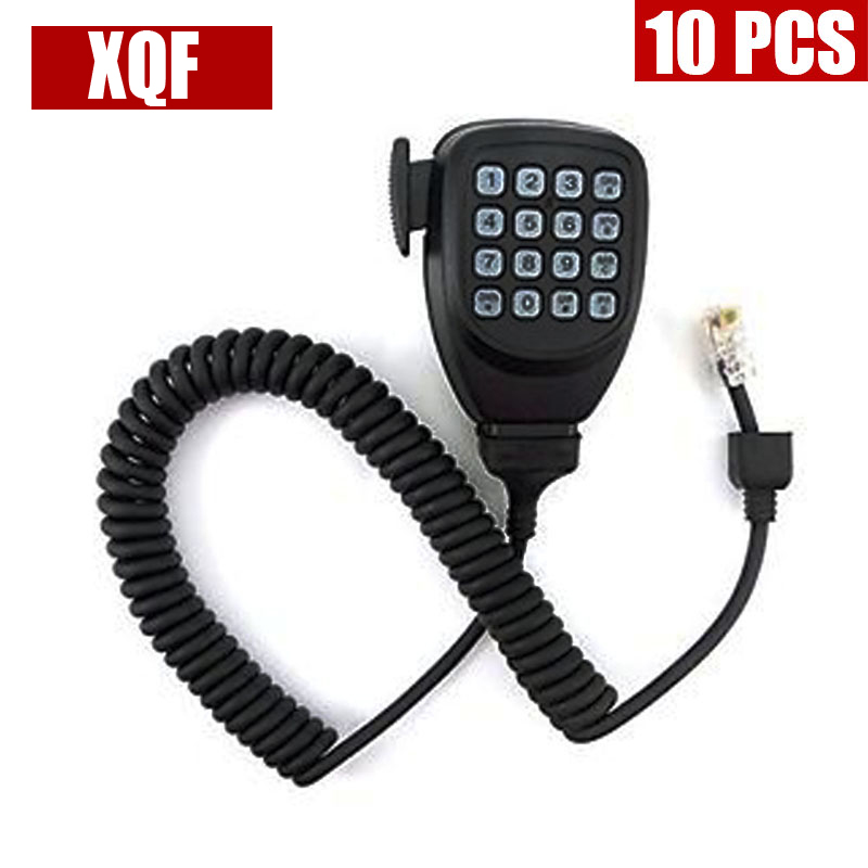 XQF 10PCS  DTMF 8pin Microphone Mic Speaker For Kenwood Radio TM-261 TM-271 TK-868G