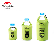 NatureHike High Quality 5L 10L 20L Ocean Pack Outdoor Straps Waterproof Dry Bag Ultralight Drifting Package Camping Swimming Bag