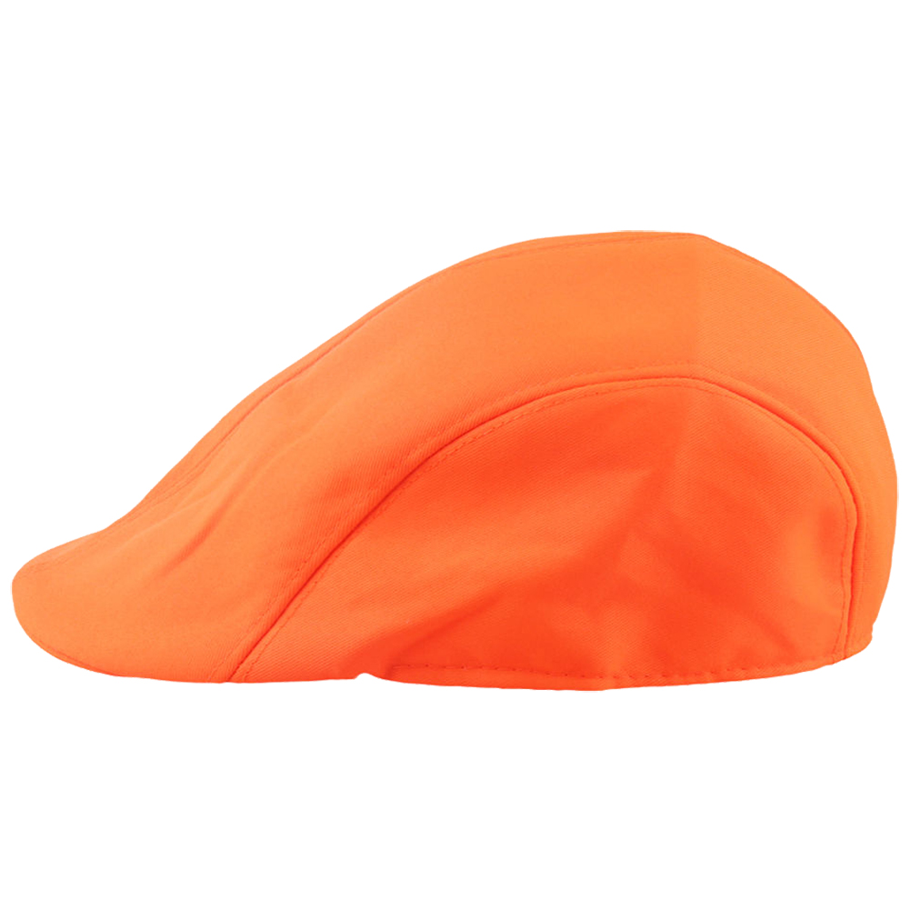 Candy Color Gatsby Cap Ivy Hat Golf Driving Summer Sun Flat Cabbie Newsboy, Orange