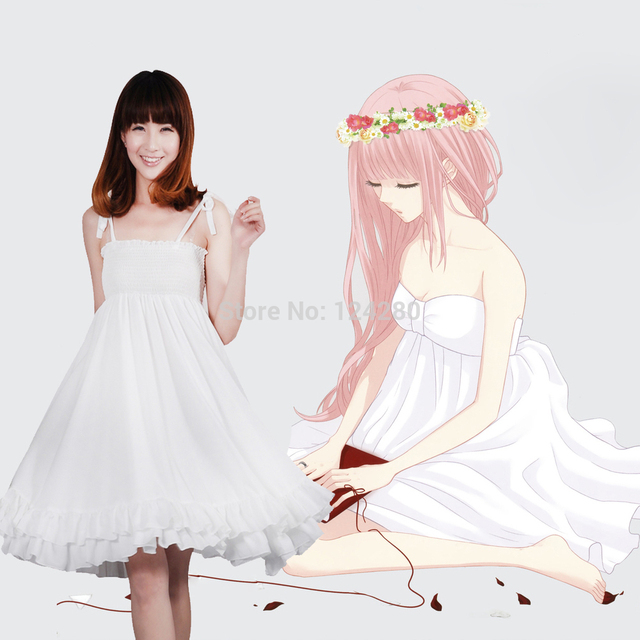 Aliexpress.com : Buy 2016 Luka Megurine Luka White Strap Dress ...
