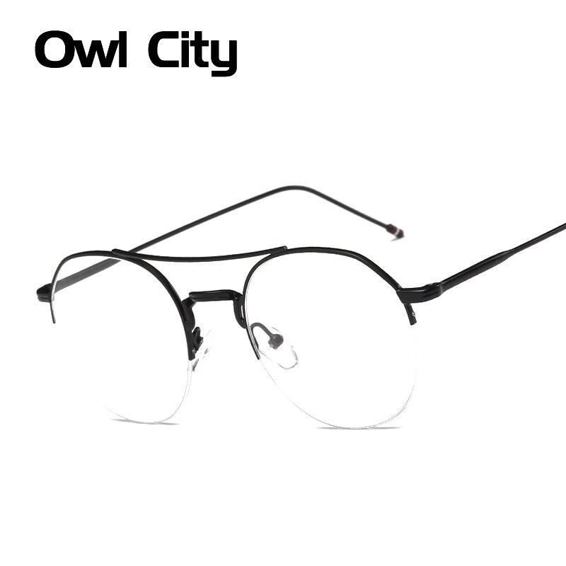 Women Eyeglasses Brand Designer Round Rose Alloy Frame Print Women Optical Clear Len Glasses Eyeglasses Frames Eyewear
