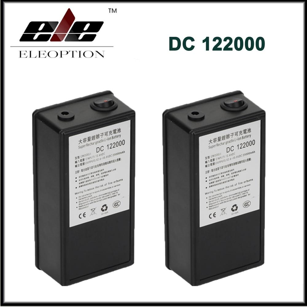 2x batterie portative Rechargeable de lithium-ion de polymère de capacité élevée de cc 12 V 20000 mAh pour l'émetteur de caméra de télévision en circuit fermé avec la prise