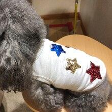 Dog Vest Cheap Soft Star Bling Pet Shirt Clothes  XS S M L XL