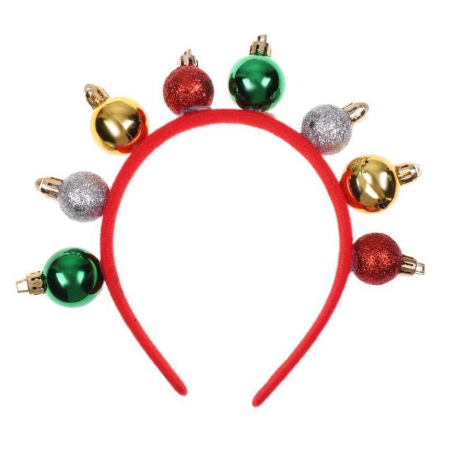 8 Balls Christmas Headband Santa Xmas Party Decor Double Hair Band Clasp  Head Hoop Cute Xmas hair clasp and good gift for kids 32158cc0507