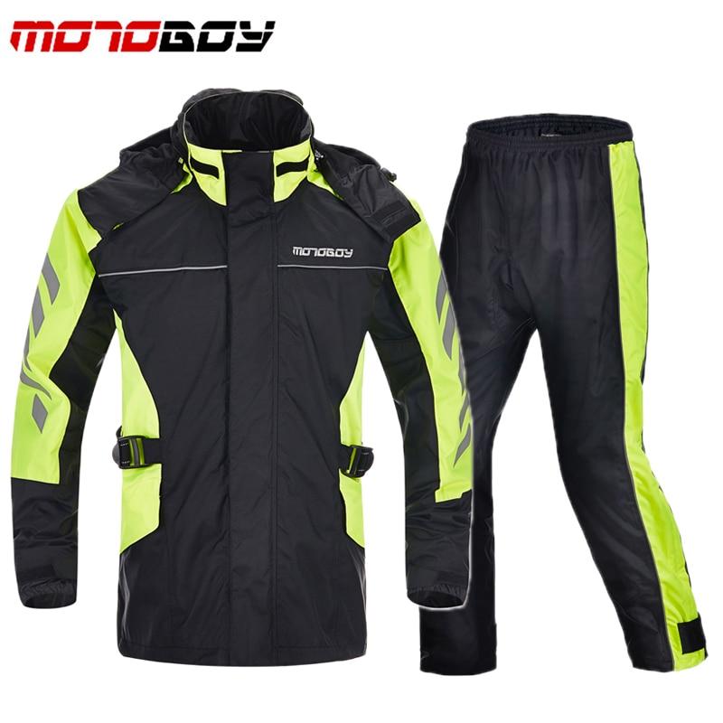 AnpassungsfäHig Ein Satz Motoboy Motorrad Regen Mäntel Off-road Racing Reflektierende Regen Anzüge Jacken Hosen Wandern Klettern Regenmantel Kleidung