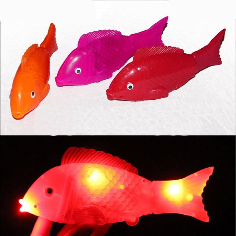 Electric Flash Swim Fish Magical Music With Light Machine Sensation Fish Swim Pet Clown Fish  With Music Lights Toys Gifts
