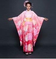 New Party Cosplay Cotume Japanese Kimono Women Yukata Traditional Japanese Kimonos Female Bathrobe Japanese Ancient Clothes 0117