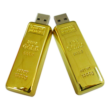 Memory Stick 64GB 128GB Gold Bar Model New Flash Drive USB 2.0 Storage U-Disk