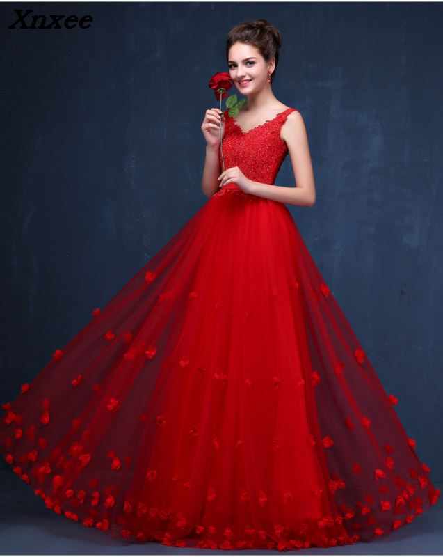 Kadın Giyim'ten Elbiseler'de Yüksek Kaliteli Kırmızı Dantel Uzun Elbiseler Düğün Parti Için Yaz Balo Abiye 2018 Salıncak Maxi Elbise Artı Boyutu Vestidos'da  Grup 1