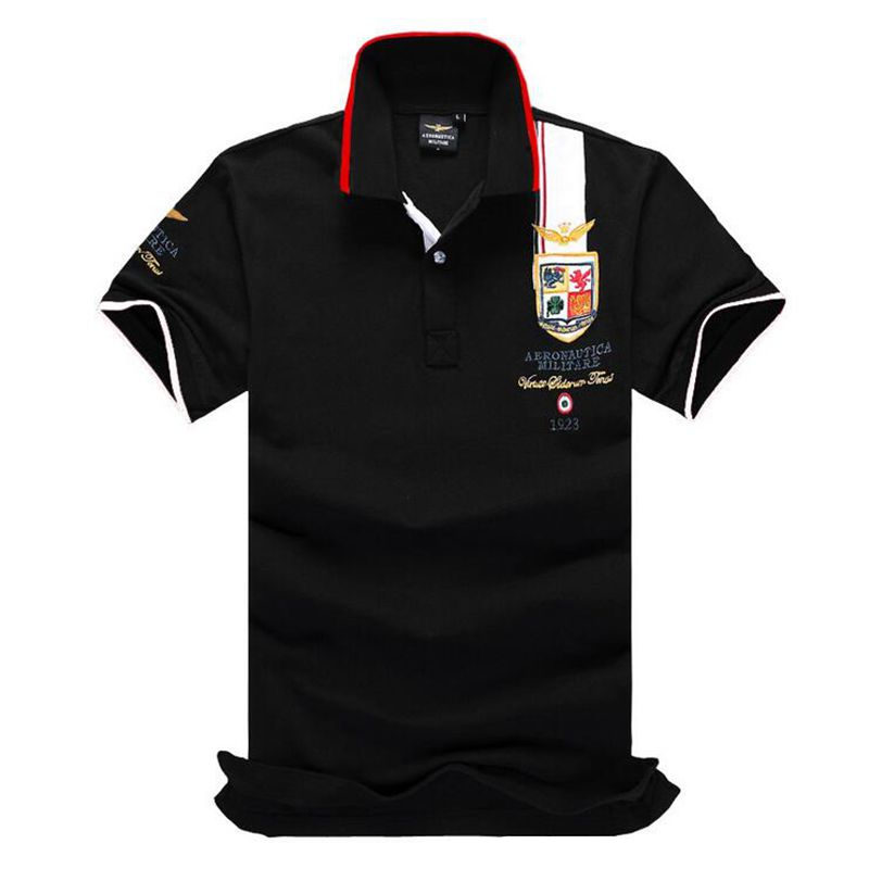 New cotton shirts marking the summer of 2019, men's air force one   POLO   shirts with short sleeves and lapels