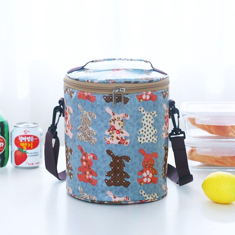 Круглые коробки сумка для ланча Водонепроницаемая Термосумка ремень для барабана portableLarge - Цвет: Фиолетовый