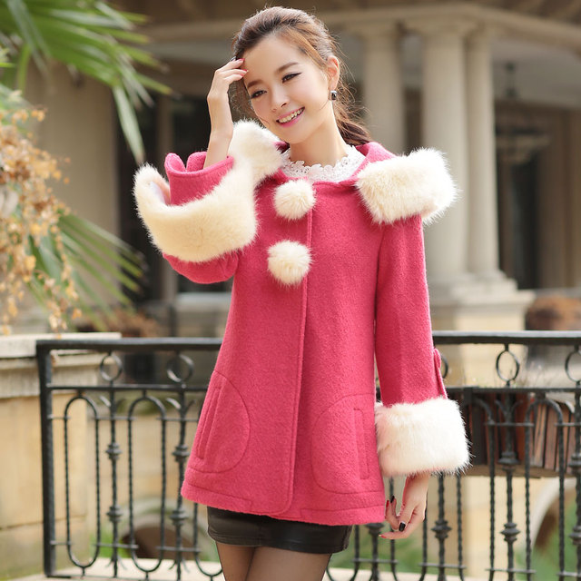 2013 winter women's fashion sweet elegant design short outerwear wool coat 02212213862