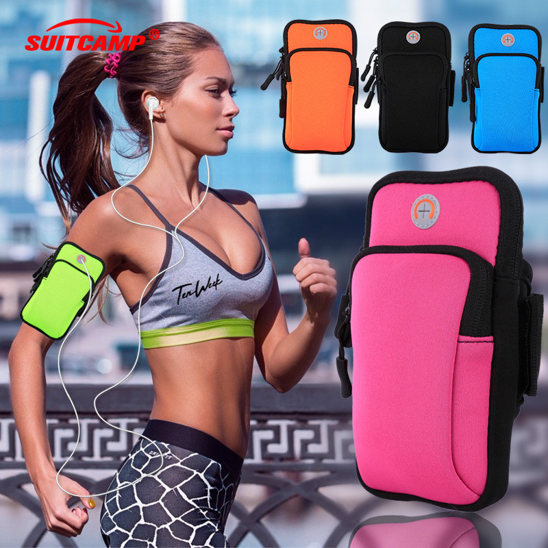 Running Bag Sport Armband Case Zippered Fitness Running Arm Band Bag Pouch Jogging Workout Cover For Mobile 7Plus