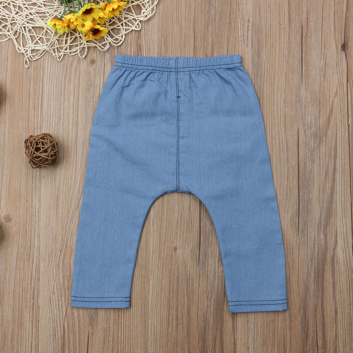 Infant Baby Boys&Girls Clothes Cartoon Bears Denim Clothing Long Pants Bottoms Kids Trousers 0-3 Years 2