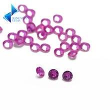 Размер 1 ~ 3 мм # Оптовая продажа синтетического розового камня