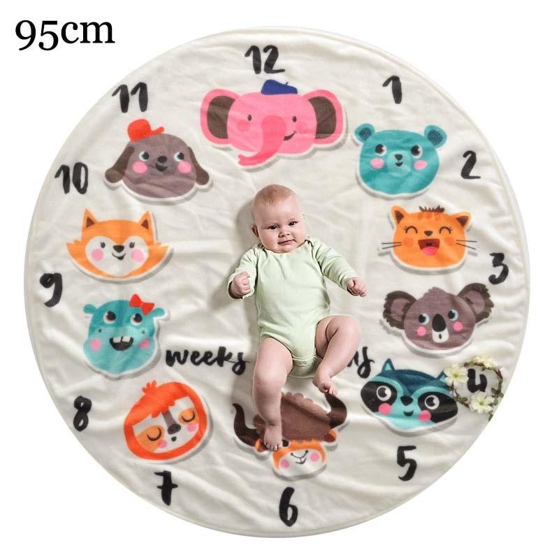 Прямоугольное одеяло-Ростомер для новорожденного ребенка/ребенка, подарок для мальчика, одеяло для фотосъемки 76X102 см - Цвет: cartoon