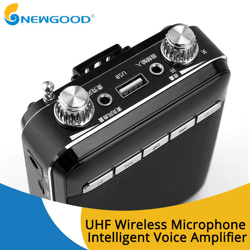 Portable Wireless Voice Amplifier for Teachers Megaphone Booster Amplifier speakers UHF wireless microphone FM radio dra818u uhf band ham radio wireless audio module dark blue silver