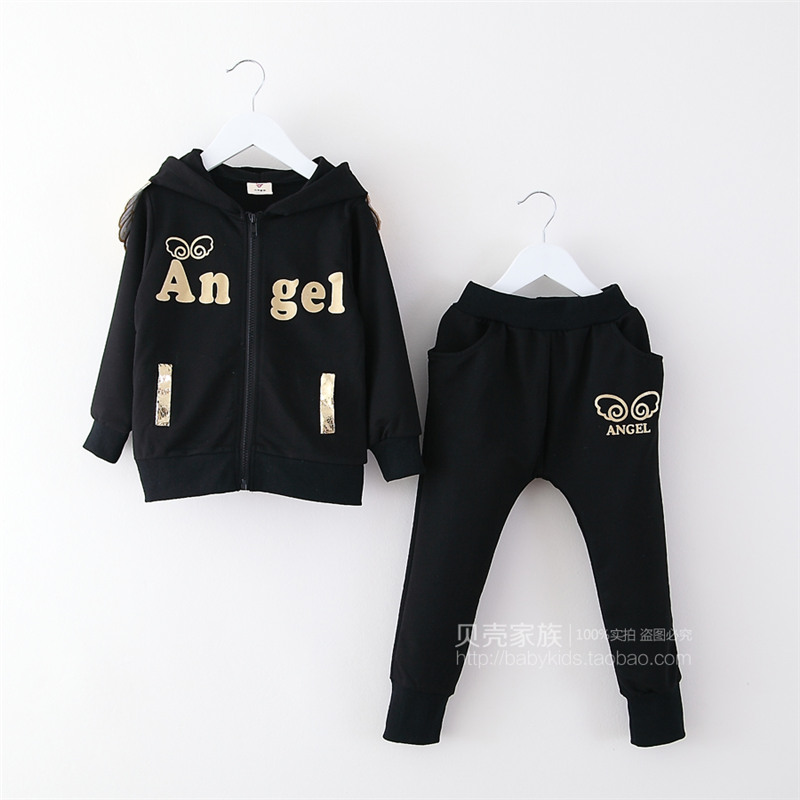 2015 autumn Korean version new styles boys and girls letters print hooded coats long pants casual sets    TZ-2072 woody mutambo abraham sinyei and josephat onyancha parenting styles experienced by adolescents and assertive behaviour