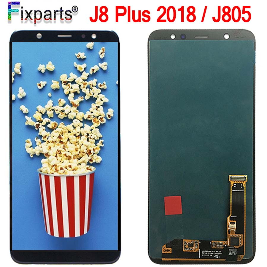 For Samsung Galaxy j8 Plus 2018 LCD Touch Screen Digitizer Assembly For Samsung j8 Plus j8+ LCD For Samsung j805 LCD Display