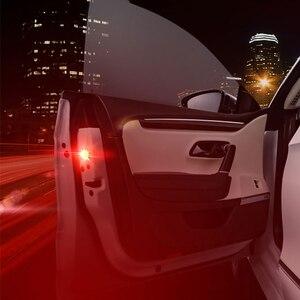 Image 2 - 2Pcs/4Pcs Universal wireless Magnetic 5 LED Warning Light waterproof strobe Car door opening Anti collision security Flash lamps