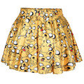 New 2016 Summer Women Short High Waist Skirt 3D Cartoon Pattern Print Skirts Casual Brand Party Wear Clothing Skirt Plus Size
