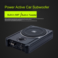 600 Вт автомобильный сабвуфер Super power 12 В в Sub Bass Woofer автомобиль под сиденьем тонкий сабвуфер с активным усилителем аудио и автомобильный твите