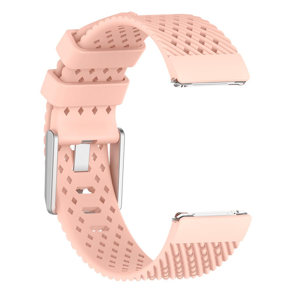2018 Newest Personality Soft Silicone Replacement Wrist Strap Watch Band For Fitbit Versa Smart Watch S/L 10 Colors
