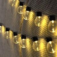 BEIAIDI 10M 38PCS Globe Bulb Christmas LED Fairy String Light 8 Mode Outdoor Patio Globe LED String Light Wedding Party Garland
