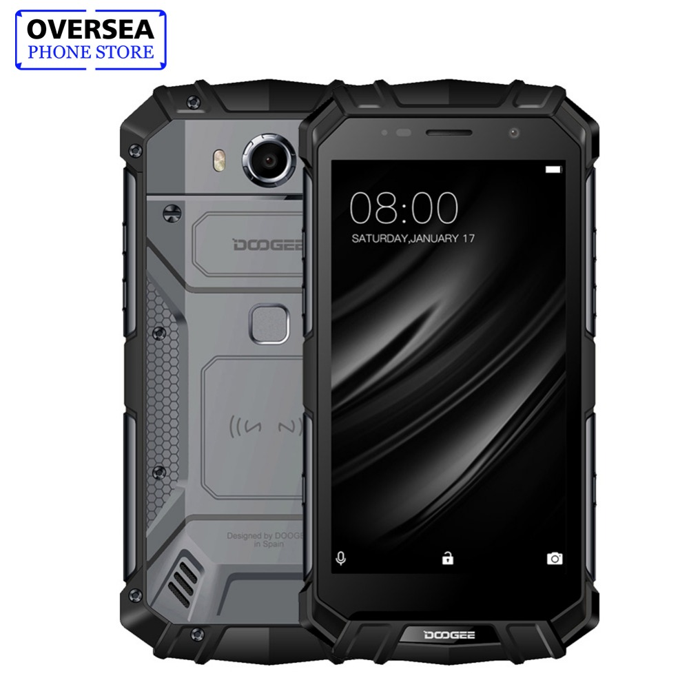 IP68 DOOGEE S60 Sans Fil Charge 5580 mah 12V2A Charge Rapide 5.2 ''FHD Helio P25 Octa Core 6 gb 64 gb Smartphone 21.0MP Caméra