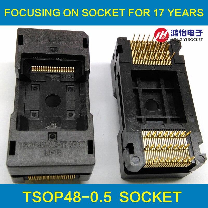 TSOP48 Long Ouvert Haut Brûle en Socket Pin Pas 0.5mm IC Test Socket Adaptateur Le Transposon Adaptateur Conversion Bloc