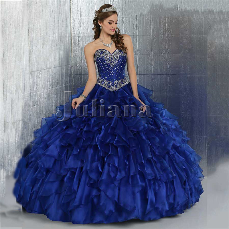 Popular Short Royal Blue Ball Gowns for 15-Buy Cheap Short Royal ...