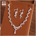 The bride wedding jewelry jewelry crystal necklace set wedding birthday gift crystal alloy clavicle chain