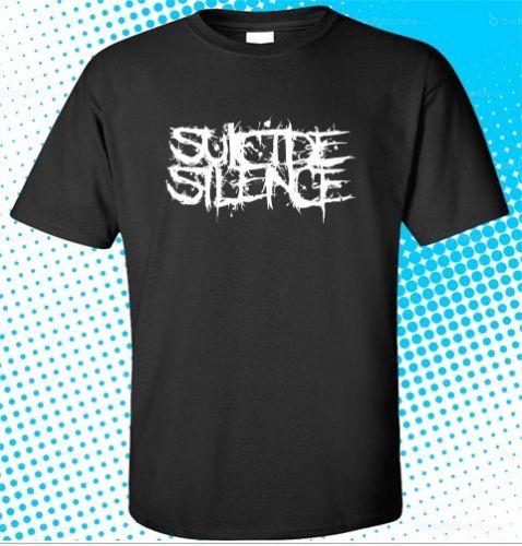 31fb02818f3 2018 последние SUICIDE SILENCE Митч Lucker логотип мужская Черная футболка  Размер S-3XL Короткие рукава хлопковые топы рубашки мужские повседневные  футб.