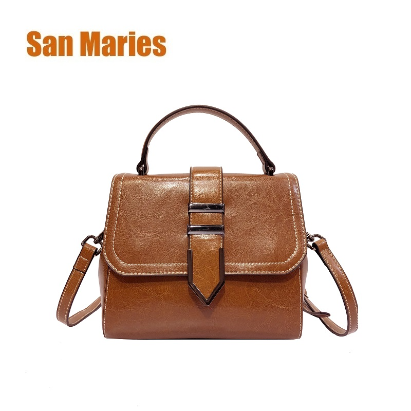 San Maries 100% Genuine Leather Women Handbags 2018 New Arrival Female Korean Fashion Totes Crossbody Bag Shoulder Bags Handbags солнцезащитные очки polaroid 2015 1012s