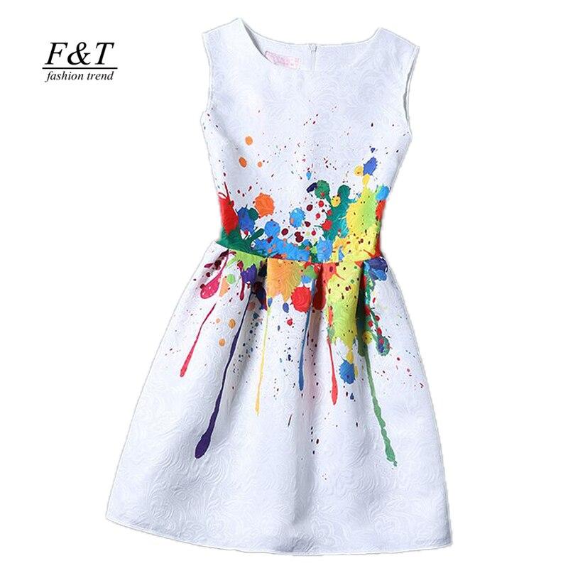 new women printed flower dress sleeveless knee length one piece dress casual slim bodycon korea college vintage dress