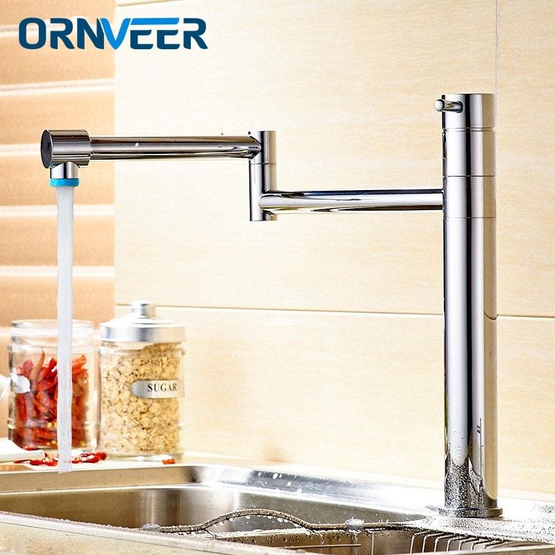 Nouveau moderne Chrome finition robinets de cuisine montage sur pont mitigeur Bar robinets salle de bains évier robinet cuisine évier robinets