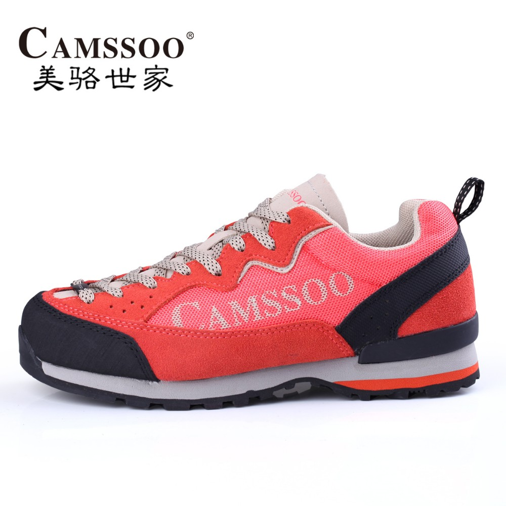 CAMSSOO Women's Fall & Winter Leather Sports Outdoor Hiking Trekking Shoes Sneakers For Women Climbing Mountain Shoes Woman yin qi shi man winter outdoor shoes hiking camping trip high top hiking boots cow leather durable female plush warm outdoor boot
