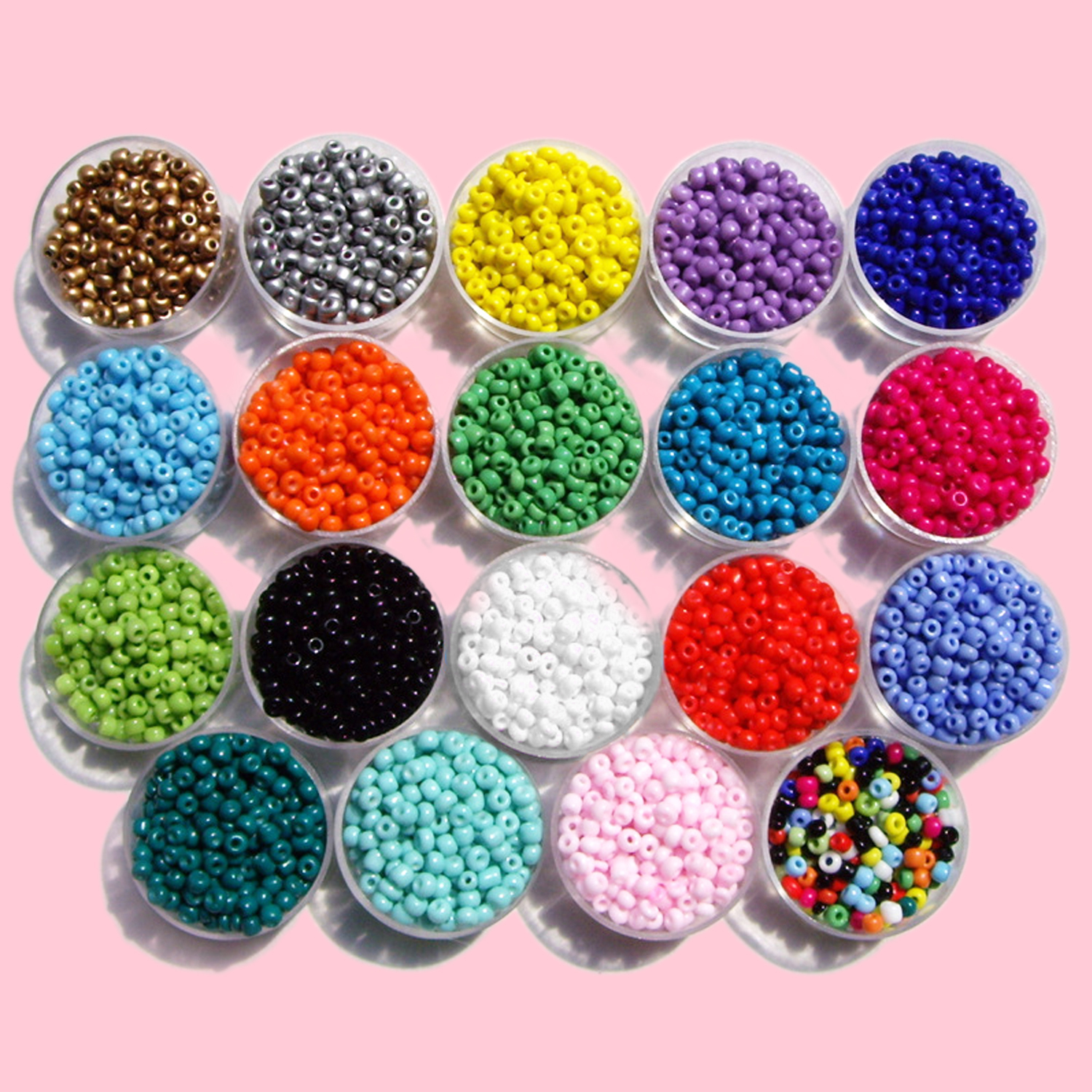 Kids Girls Candy Color 3mm Mini Acrylic Beads DIY Stringing Threading Weaving Bead Bracelet Necklace Jewelry Making Beaded Toy