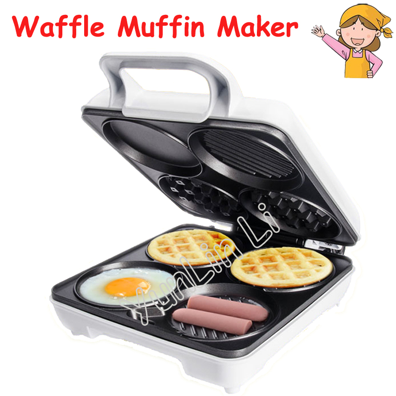 Multi-Functional Waffle Maker breakfast Machine Four-Hole Muffin Machine Egg Frying Pan Pancake Machine SW-289HW innovative owl shape silicone egg frying mould frying pancake mold breakfast mould creative kitchen supplies for diy present