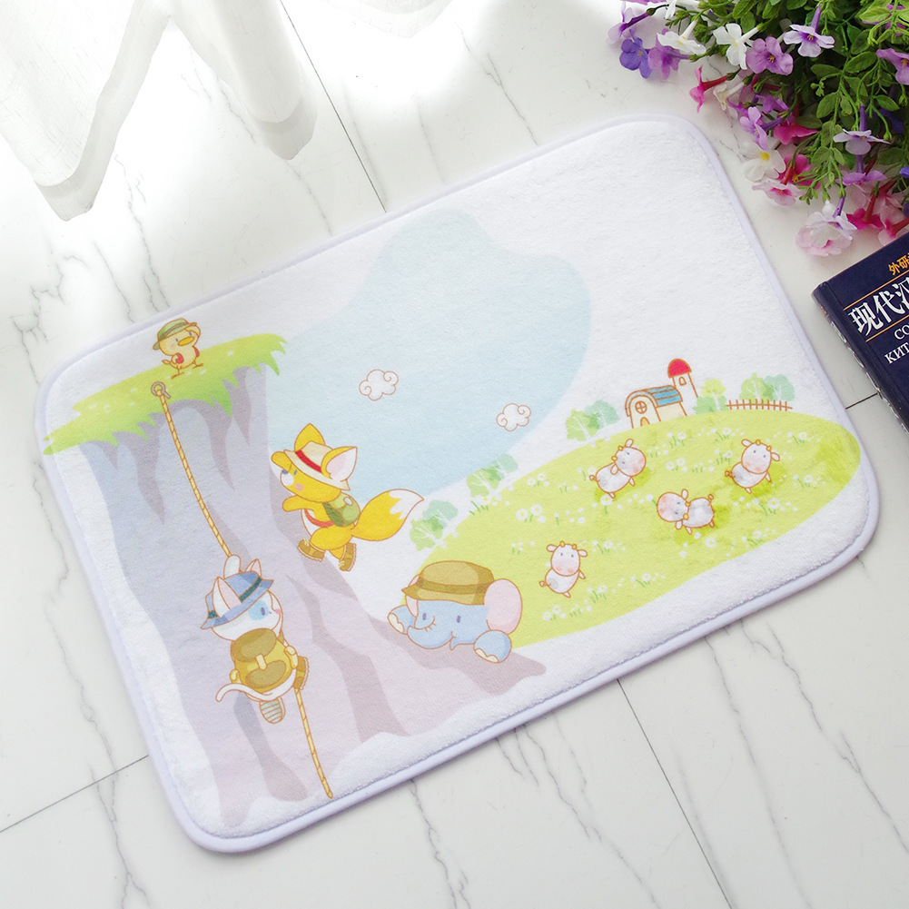 Online Shop Children Bedroom Bed Front Cartoon Flannel Carpet Land Pad Shower Room Doorway Door Stepping Pad Throw Rugs Kitchen Mats Doormat | Aliexpress . : door stepping - Pezcame.Com