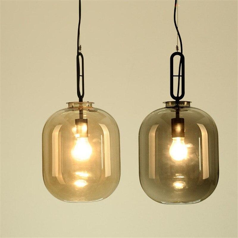купить Nordic creative melon pendant lamp restaurant exhibition art personality glass classic designer bedroom living room chandeliers онлайн