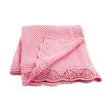 Baby Blankets Knitted Super Soft Newborns Bebes Swaddle Wrap Candy Color Toddler Infantil Sofa Crib Bedding Quilt Stroller Cover