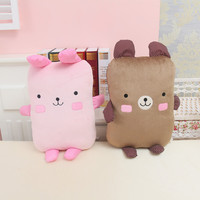 2015 adorable bear cute adorable bear biscuit biscuits rabbit rabbit doll cushion pillow Valentine birthday holiday Dating Confe